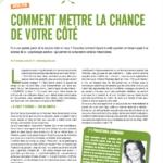 Mon premier article dans L'Eco austral : 'Comment mettre la chance de votre côté'